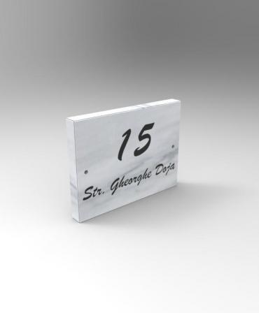 Număr casa cu denumirea străzii NCM1 - 15x20x2CM