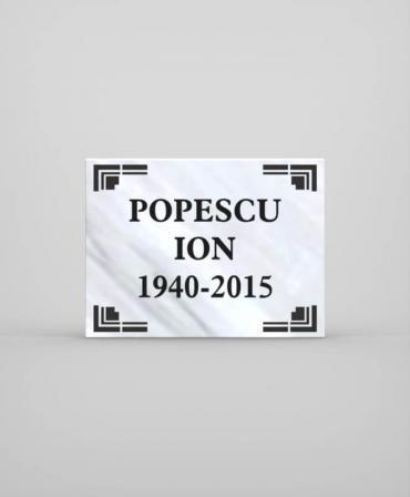 Placa comemorativă din marmură model PCM1-30x40x2 - A013 - poza 1