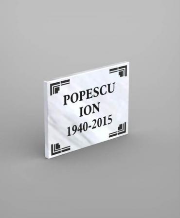 Placa comemorativă din marmură model PCM1-30x40x2 - A013 - poza 2