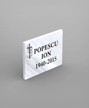 Placa comemorativă din marmură model PCM1-30x40x2 - F125 - poza 2